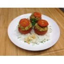 Tomates farcies végétariennes et rizotto au parmesan