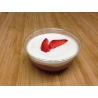 Délice de fromage frais chocolat blanc et fruits rouges
