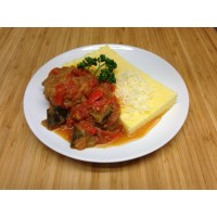Alouette de boeuf à la provençale, polenta et courgettes grillées