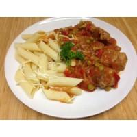 Mijoté de porc à la moutarde, légumes grillés et riz jasmin