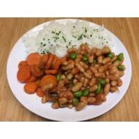 Salade de lentilles corail et légumes croquants