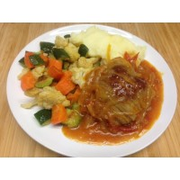 Alouette de bœuf à la tomate et farandole de légumes de saison grillés
