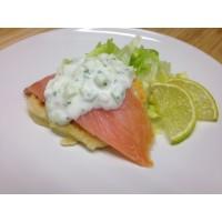 sandwich blinis saumon et crudité