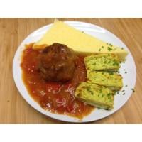 Alouette de bœuf provençale, tortis et courgettes persillade